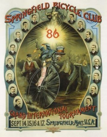 Springfield cycling club 1886 poster